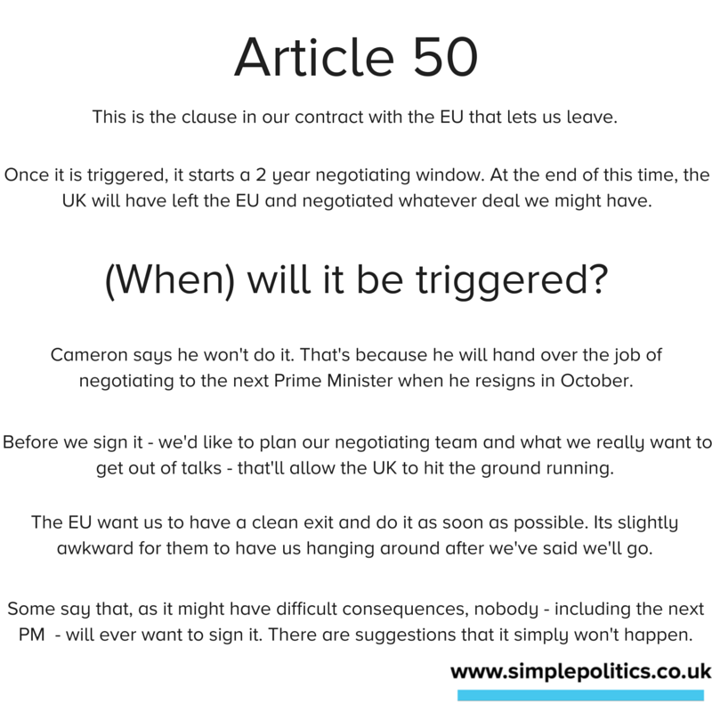 What is Article 50? Will Article 50 be signed?
