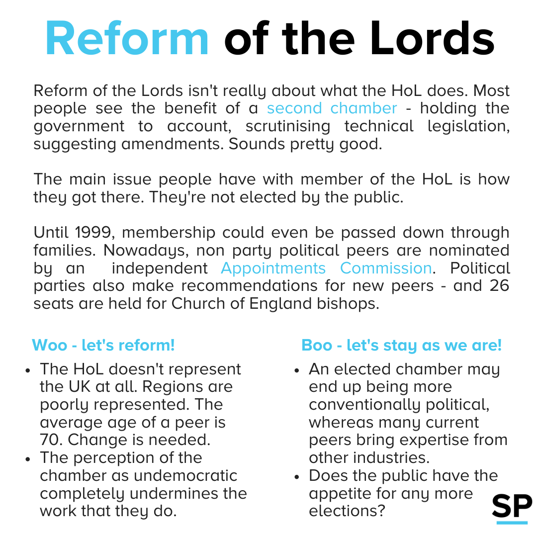 Looking at arguments for and against Lords reform